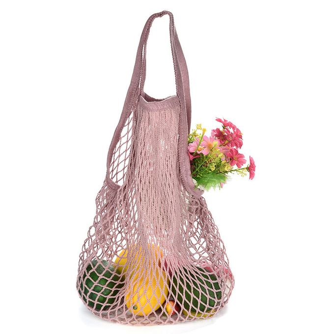Mesh Net Bag String Shopping Tote Woven Bag Reusable Fruit Vegetables  Storage Handbag