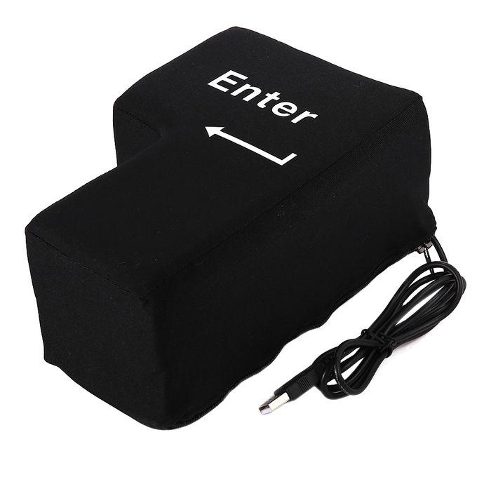 BIG ENTER PILLOW, Supersized USB Big Enter Key Office Desktop Nap Pillows, Stress Relief Vent Tools Color:Black –  مصر