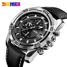 2c2e7d7f868a3 Top Luxury Men  039 s Watches SKMEI Brand Fashion Casual Leather Sports  Watches Men