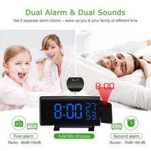 2bccf7f76 Digital Alarm Clock Projection FM Radio 5-inch Dimmable LED Projector Xmas  Gift
