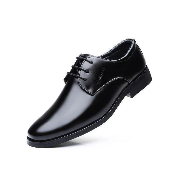 894a77135 Men's Cap Toe Classic Formal Dress Shoes(black) - Jumia مصر