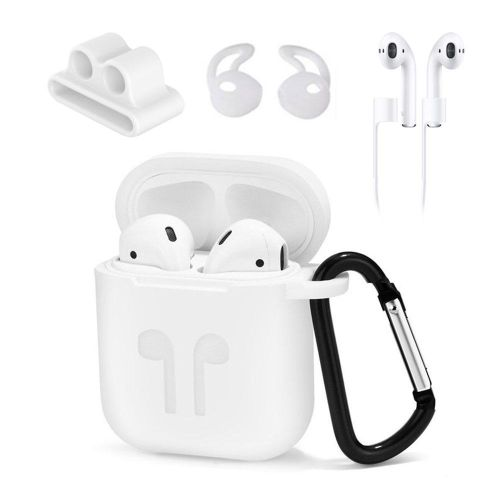 91bc75d8df5 Generic Airpods Case, [Airpods Accessories Set][Airpods Ear Hook][Airpods  Watch Band Holder][Airpods Keychain][Airpods Strap][Silicone Cover] Best Kit  For ...