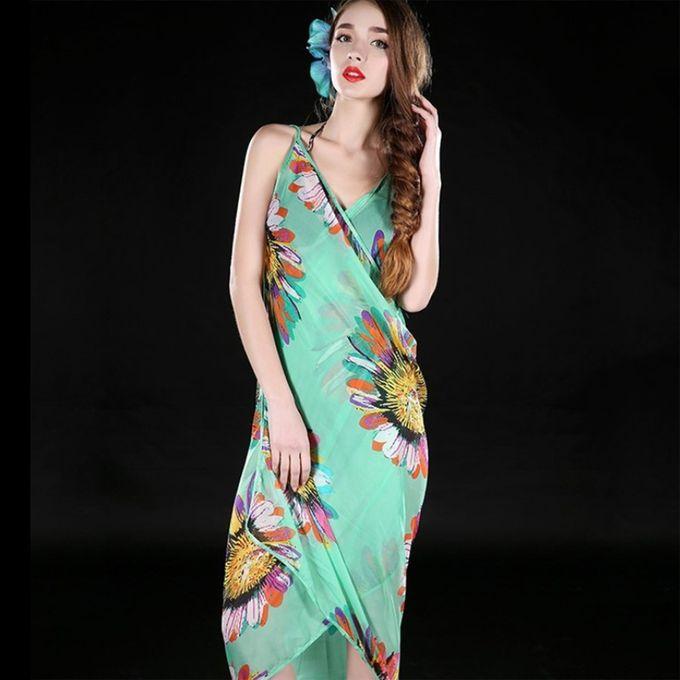 c017ff40de686 Women Sexy Summer Floral Chiffon Bikini Cover Up Beach Dress Swimwear Wrap