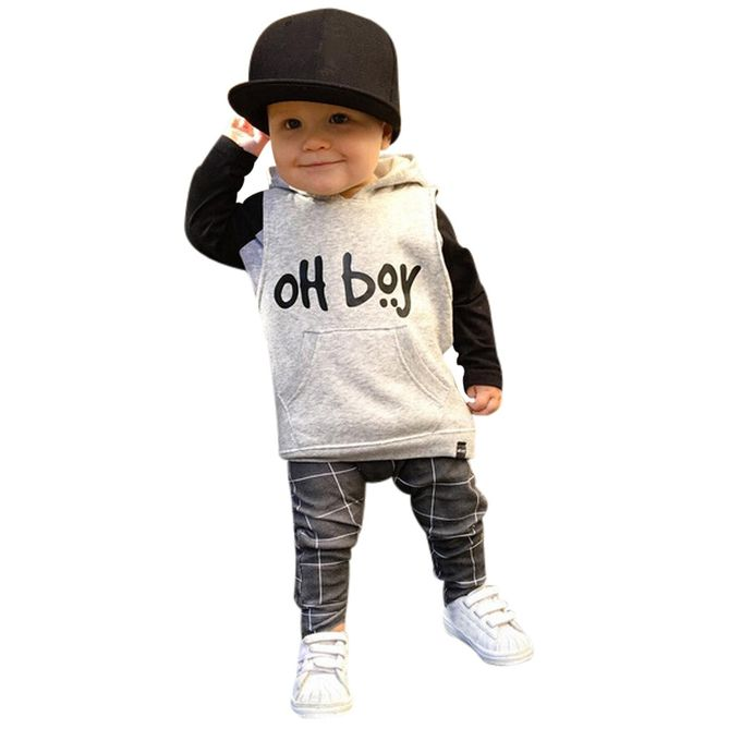 ebb7316d8 FashionToddler Infant Baby Girl Boy Clothes Set Fashion Hooded Tops+Pants  Outfits