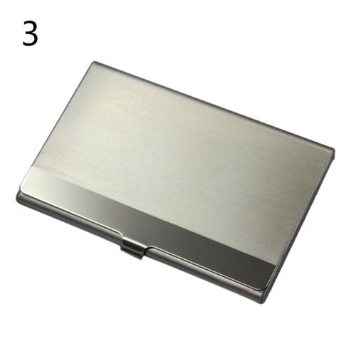 Fine stainless steel pocket name credit id business card holder fine stainless steel pocket name credit id business card holder metal box case silver pattern 3 reheart Images