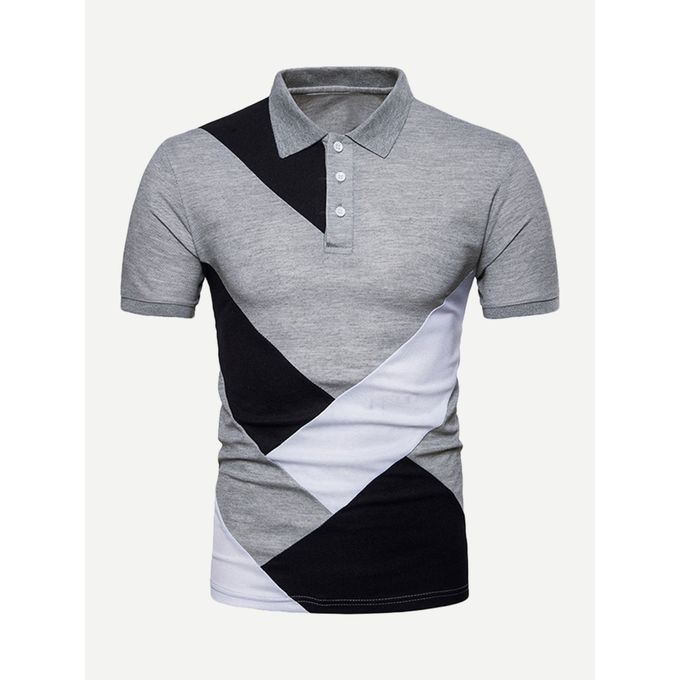 2189f1b3f7 Sale on Men Cut And Sew Panel Polo Shirt | Jumia Egypt