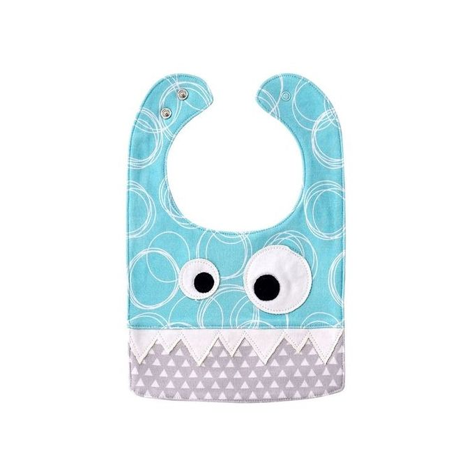 Baby Bibs Pure Cotton Saliva Towel Kids Pinafore Specification:02 Blue Flowers + Grey –  مصر