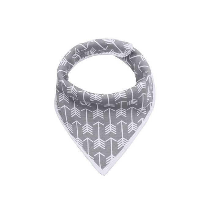 Triangle Baby Cotton Bibs Arrow Pattern – Grey –  مصر
