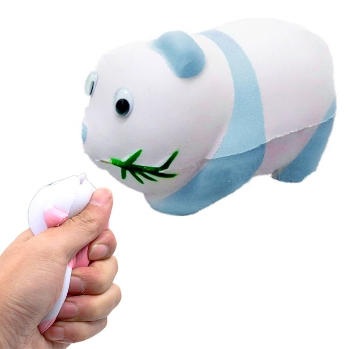 Simulation Panda Shape Squishy Slow Rising Toy Slow Rebound PU Stress Reliever Squeeze Toy(Blue) –  مصر