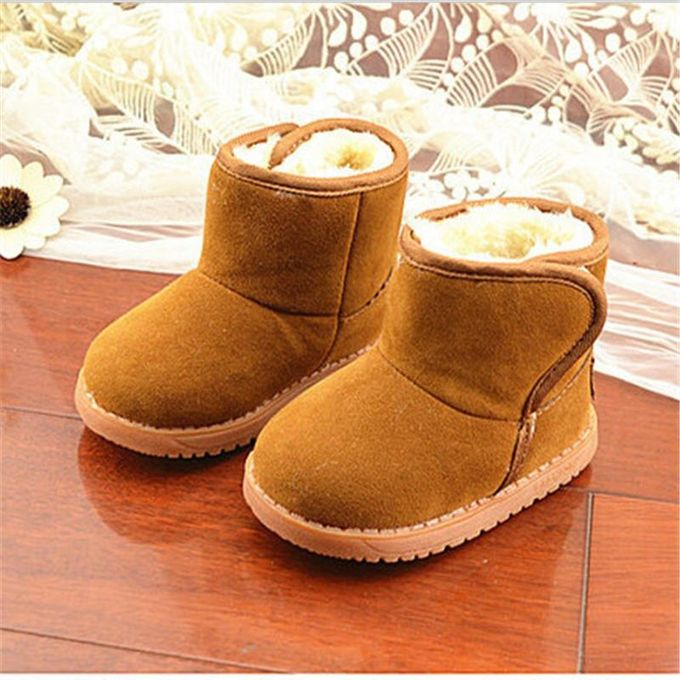 0c7b7793121c New Infant Toddler Baby Girls Boots Boys Kids Winter Thick Snow Boots Fur  Shoes-EU