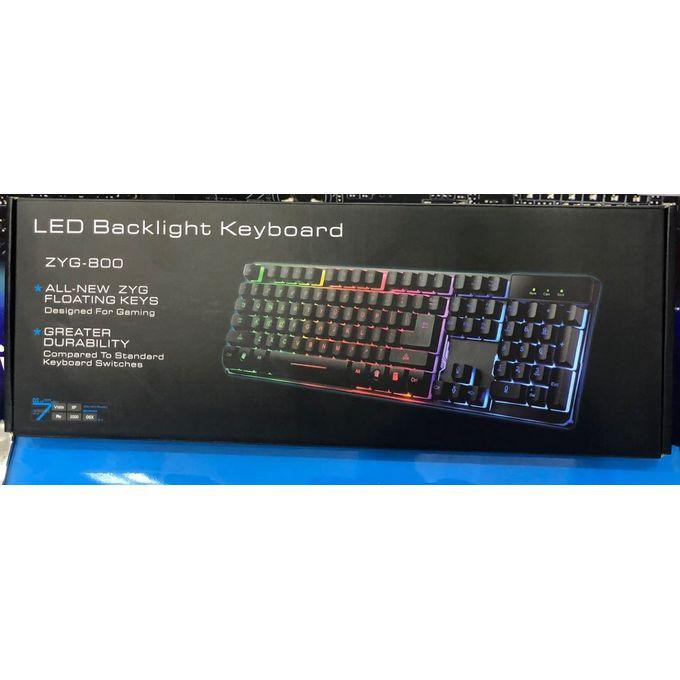 order zyg 800 led back light gaming keyboard at best price sale on zyg 800 led back light. Black Bedroom Furniture Sets. Home Design Ideas