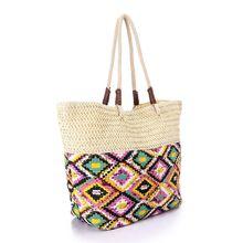 907c9d4dc171ea Premoda Printed Straw Beach Bag - Multicolour