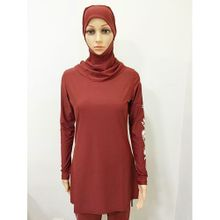 73b86abf82 Women Printed Floral Hijab Muslim Swimwear Beach Bathing Suit Muslimah  Islamic Swimsuit Swim Surf Wear Sport