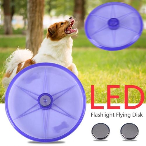 LED 3 Colors Pet Funny Light Up Flying Disk Outdoor Toys Pet