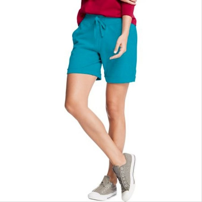 Hanes Womens 11 French Terry Bermuda Short with Pockets