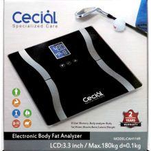 ميزان رقمي لقياس نسبة الدهون والماء والعضلات والعظام بالجسم - يزن حتى 180 كجم