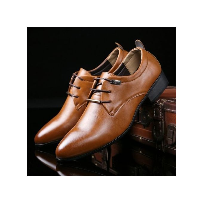 03698d91e4a36a Plus Size 38-48 Men Formal Shoes Business Casual Leather Shoes Lace-Up  Leather
