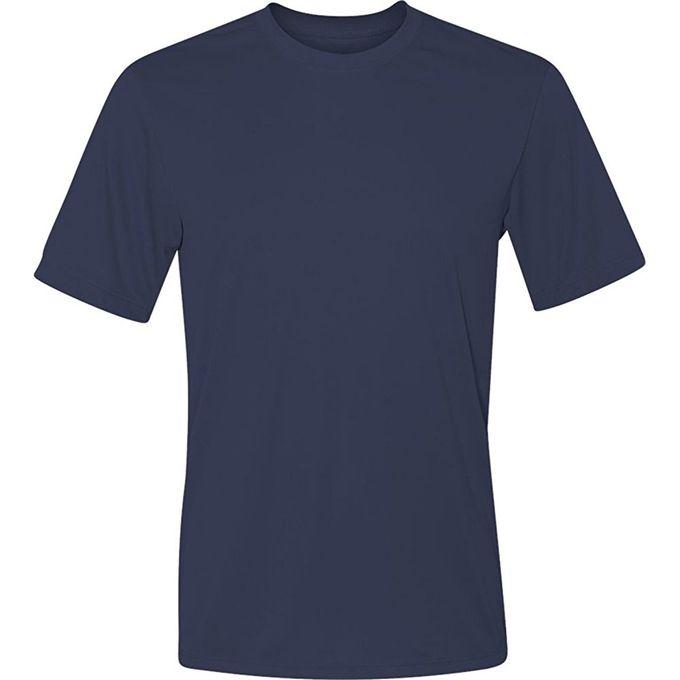 Hanes Sport Mens Heathered Performance T-Shirt [Navy, Medium]