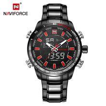 df8cf9eebba39 NAVIFORCE Luxury Brand Mens Sport Watch Gold Quartz Led Clock Men  Waterproof Wrist Watch Male Military