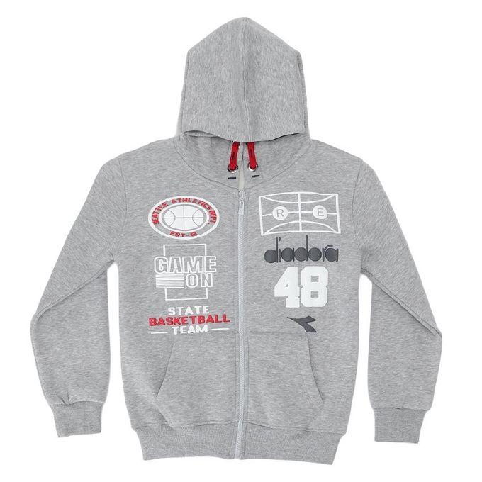 69978de9 Sale on Cotton Zipped Boys Hooded Sweatshirt - Grey | Jumia Egypt