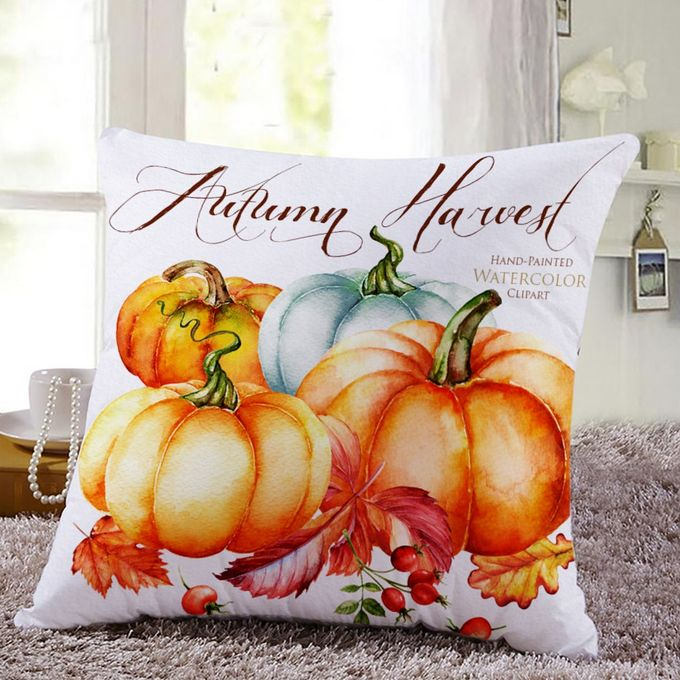 Thanksgiving Square Cover Decor Pillow Case Sofa Waist Throw Cushion Cover A –  مصر