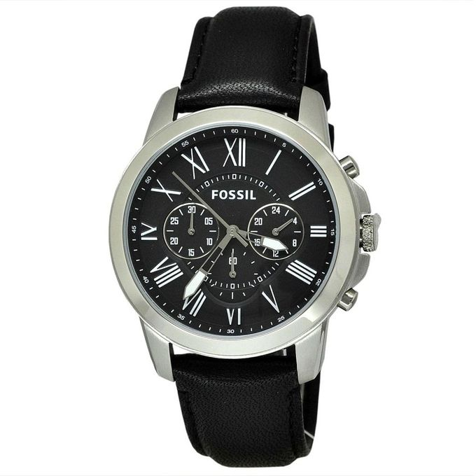 3d0bdabe0ba81 Sale on Fossil Grant Chronograph Black Dial Men s Watch - FS4812 ...