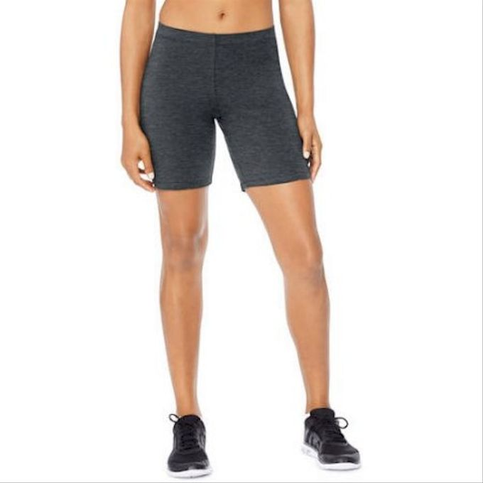 Hanes Womens Stretch Jersey Bike Short