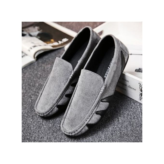 f0c78dfcb0f Sale on Men s Suede Loafers Casual Shoes-grey