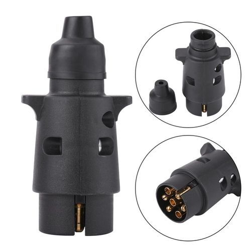 Awe Inspiring 12V 7 Pin Plastic Trailer Plug Socket Wiring Connector Adapter For Wiring Digital Resources Indicompassionincorg