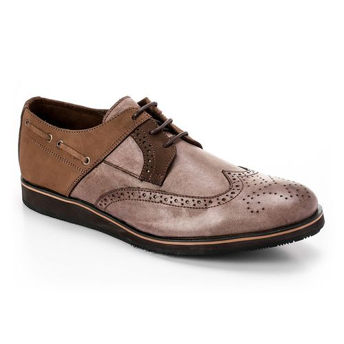 Brogues Men Smart Shoe - Medium Brown