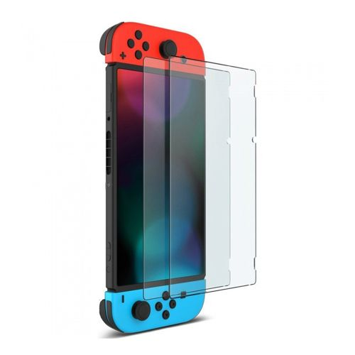 new concept bf023 b6a1f 2pcs Tempered Glass Screen Protector For Nintendo Switch-Transparent
