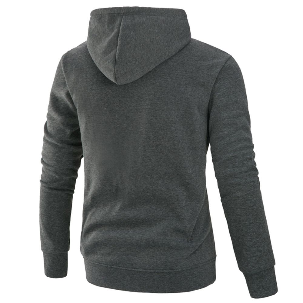 a77b372831f Eissely Men s Long Sleeve Patchwork Hoodie Hooded Sweatshirt Tops Jacket  Coat Outwear - Dark Gray