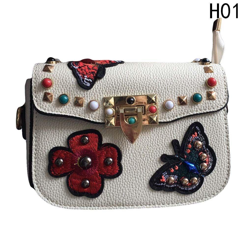 81b496dc1eca Buy Fashion New Fashion Women Studded Rivet Purse Bag Pu Leather Handbag  Spike Shoulder Crossbody Bags