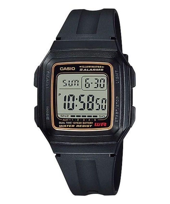 351cc41cf784d سعر Casio F-201WA-9A Resin Watch - Black فى مصر