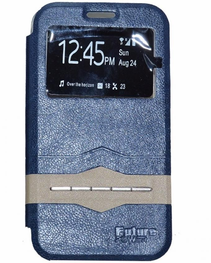 Future Power Flip Cover Sensor For Samsung Galaxy J1 Mini - Dark Blue