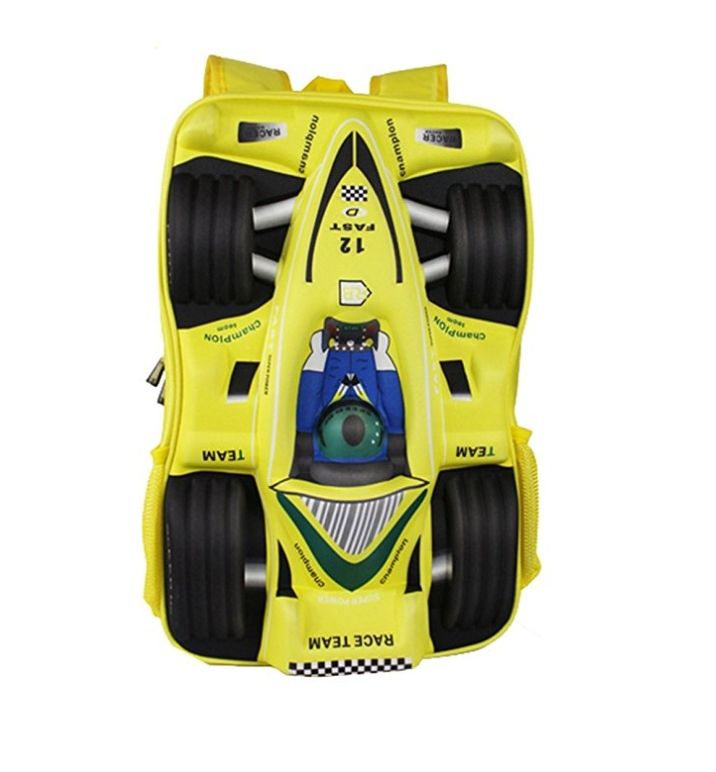 408b73bb2e Gifts and More 3D Racing Car Backpack   Yellow - 18 Inch