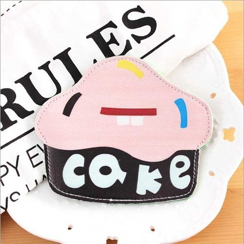 fc48a70ca611 Fashion Tanson New Fashion Creative Cute Cartoon Coin Purse Key Chain For  Girls Leather Icecream Cake Popcorn Kids Zipper Change Wallet Card Holder