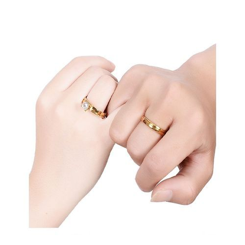 07b6d39da9bee5 Universal Fashion Stainless Steel Love Couple Ring Wedding ...