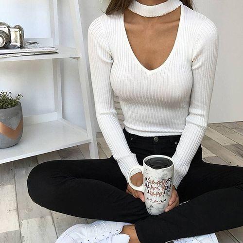 116dda45c532 Fashion Women s Lace Up Bandage Long Blouse Stretch Tight Bodysuit Jumpsuit  Leotard Full Sleeve Leotard-white
