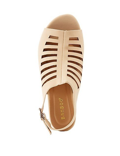 f8a29191aa5 Charlotte Russe Bamboo Caged Peep Toe Slingback Sandals Price in ...
