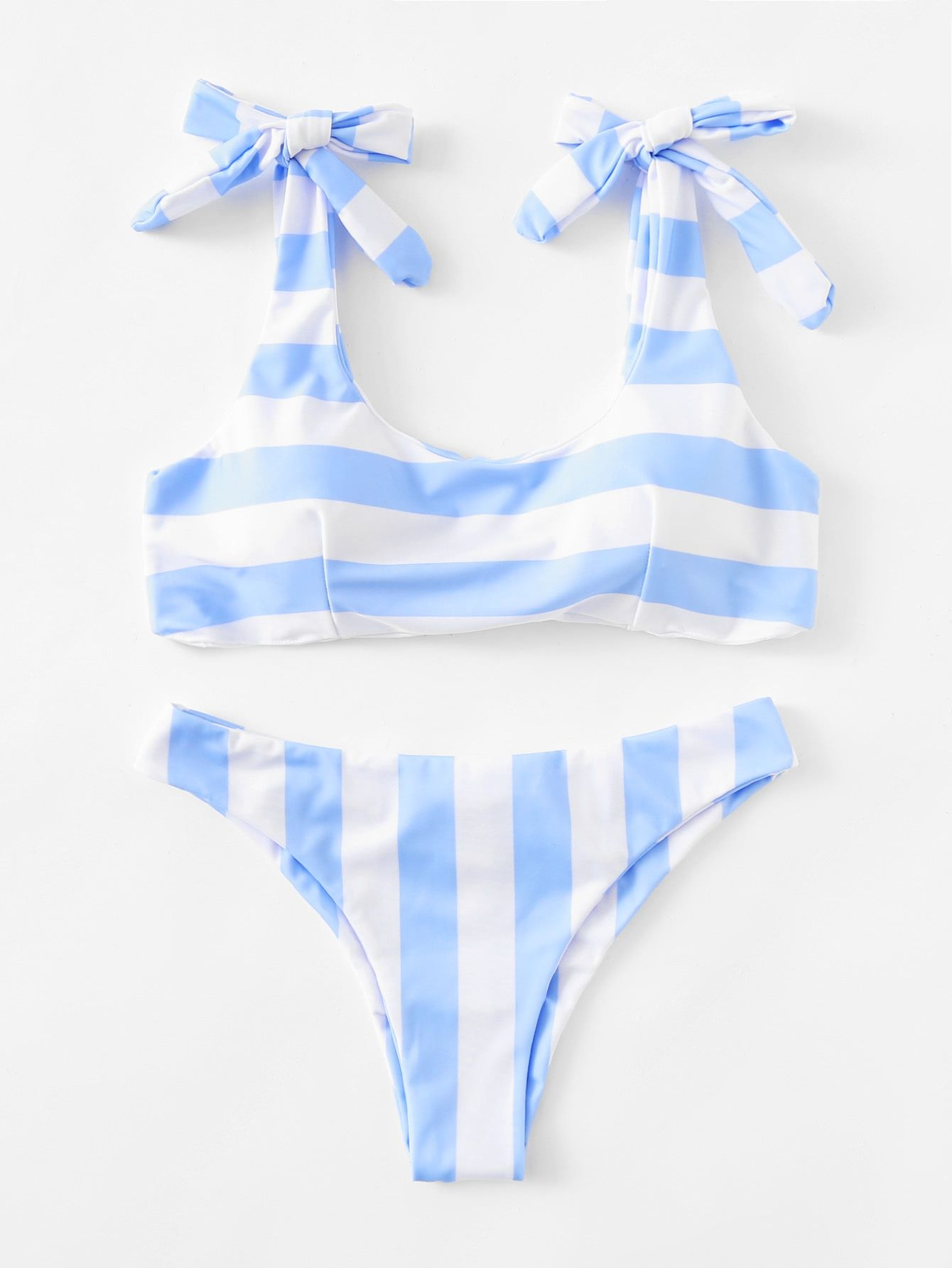 998c8c5cb2 SHEIN Striped Ruched Detail Bikini Set Price in Egypt | Jumia ...