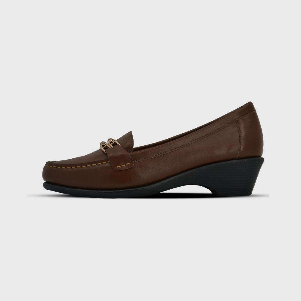 cbc391c76 Santa Barbara Polo & Racquet Club حذاء جلد بني حريمي | أحذية | كان ...