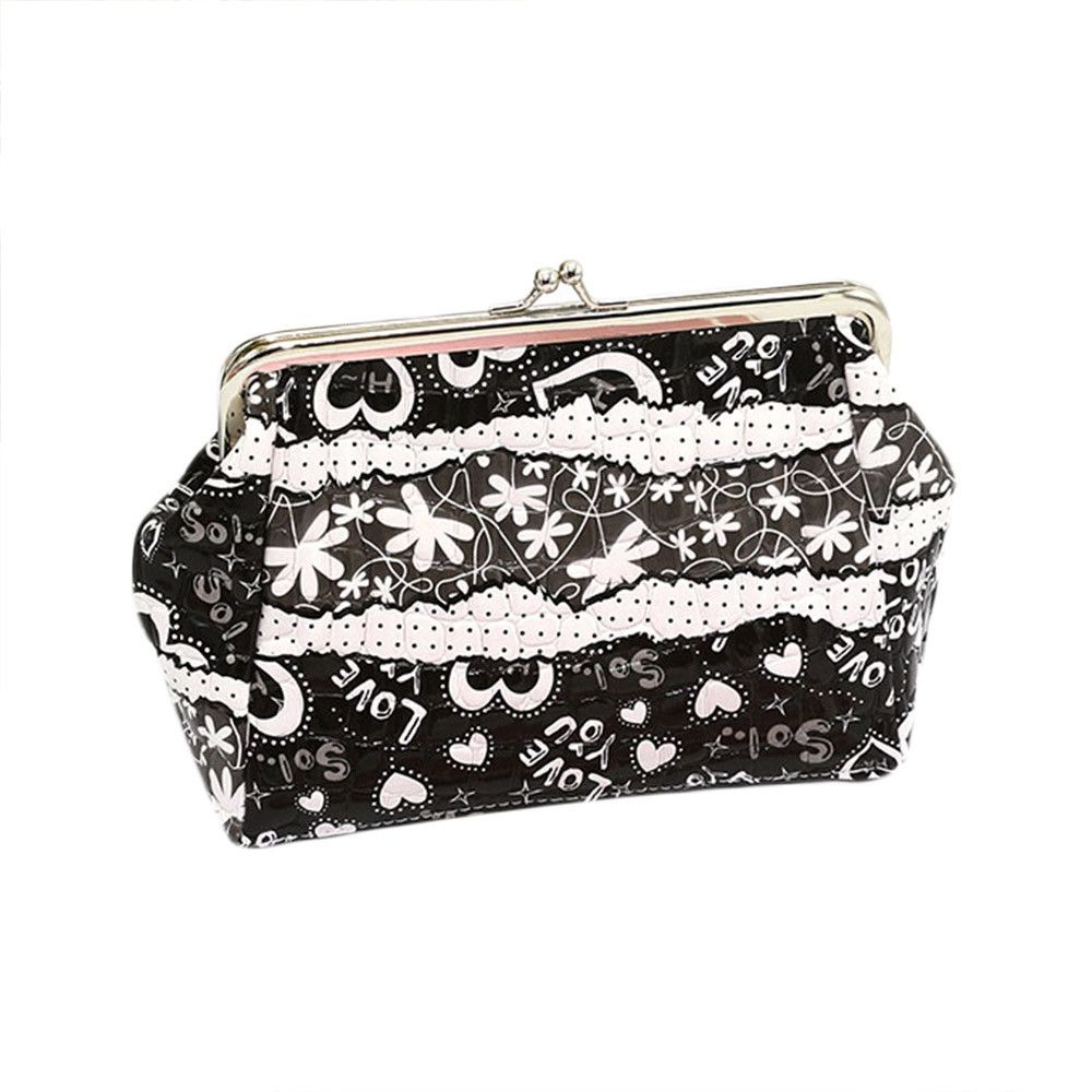 Neworldline Women Lady Small Wallet Hasp Purse Clutch Bag