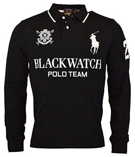 Us Polo Ralph Lauren Men S Blackwatch Big Pony Custom Fit Polo Shirt