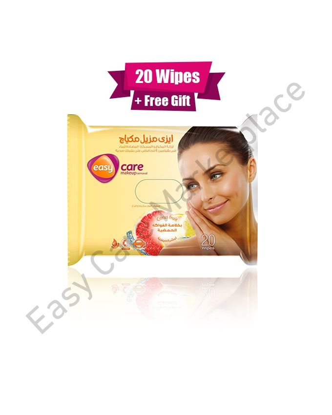 Easy Beauty Easy Make Up Removal Wipes Citrus fruits - 20 Wipes