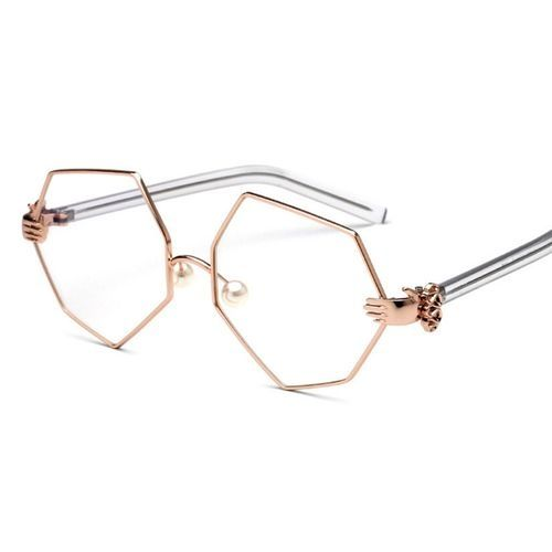 19d6cff210 Fashion New Fashion Hexagonal Glasses Personality Palm Glasses Frames Pearl  Nose Care Men And Women Flat Mirror