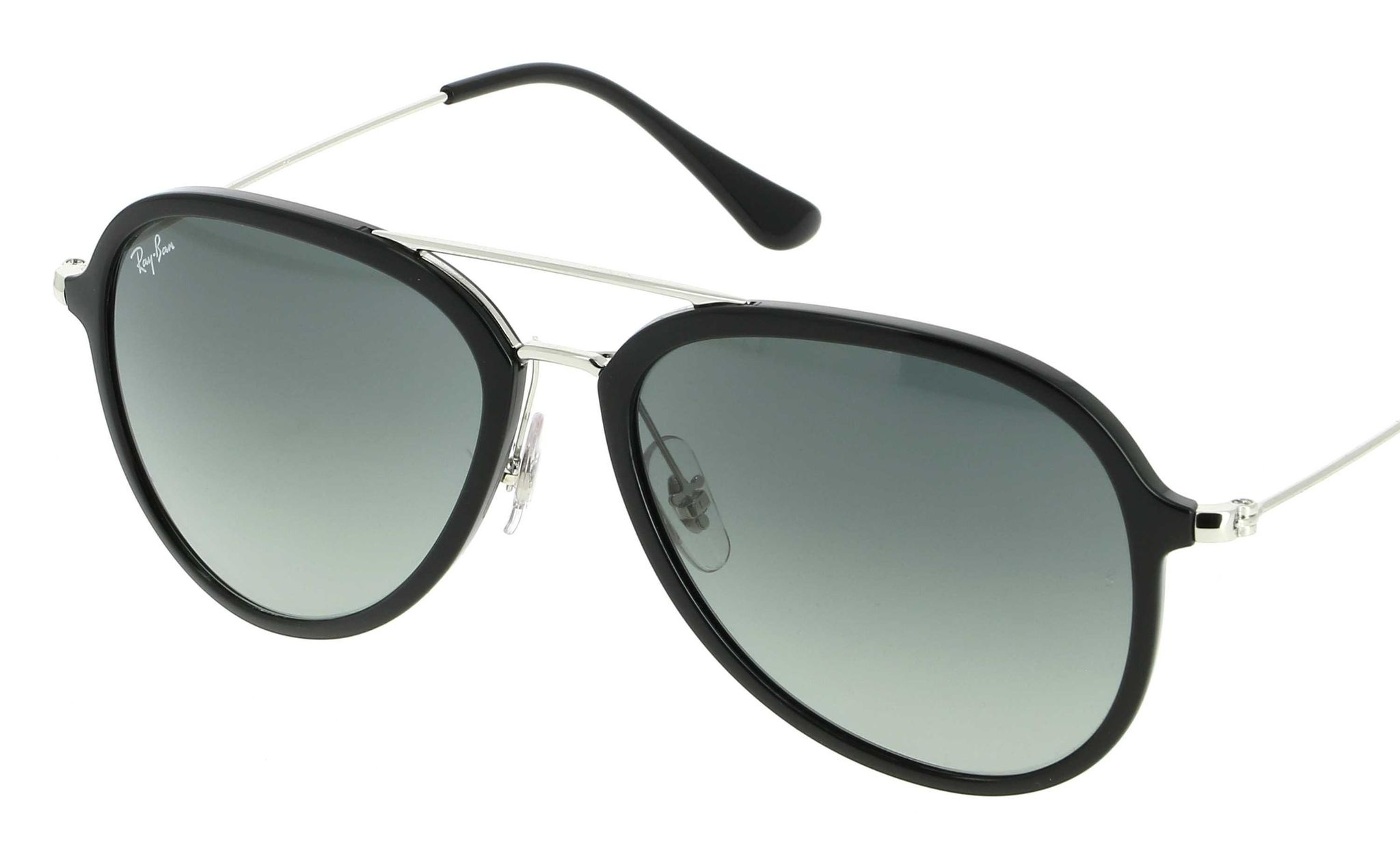42460abdd2 Ray-Ban Ray-Ban Contemporary Pilot Sunglasses In Black Grey Gradient RB4298  601 71