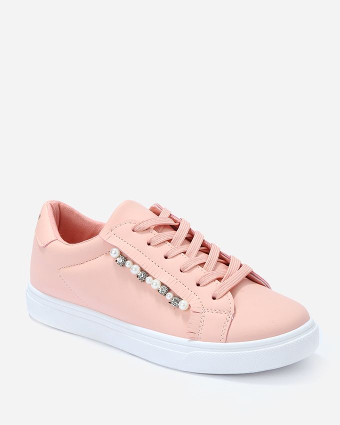 bc2be01d3bef Buy Dejavu Pearl Lace Up Sneakers - Dark Simon in Egypt