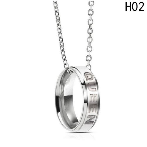 515e016873 Fashion Hot Sale King Queen Couple Necklaces Stainless Steel Ring ...