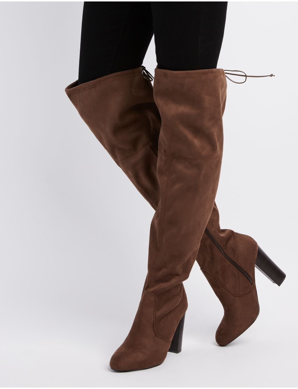 bb57c76d7ba Charlotte Russe Wide Width Tie-Back Over-The-Knee Boots. updating Prices